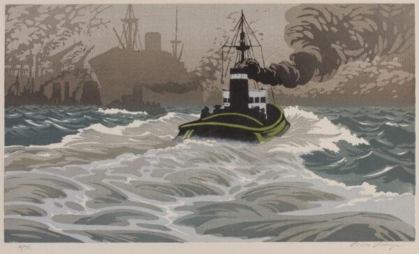 DROEGE Oscar (1898-1982) - The Tug.