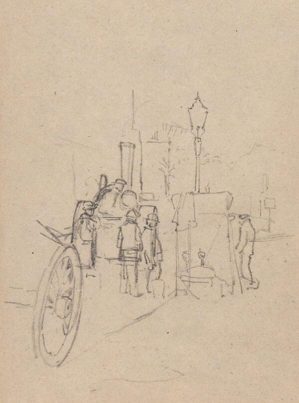 DRUMMOND Malcolm (1880-1945) - London roadworks.