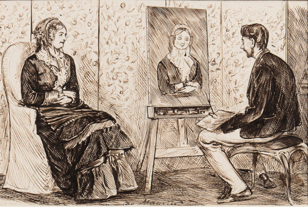 DU MAURIER George (1834-1896) - Algernon, a Young Genius and his 'Fond and Foolish Mama'.