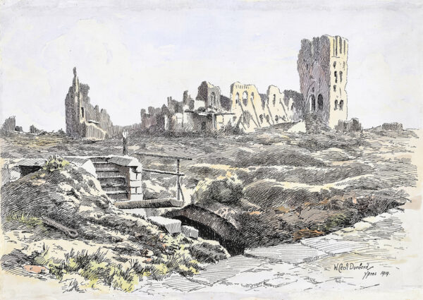DUNFORD William Cecil (1885-1969) - 'Ypres'.