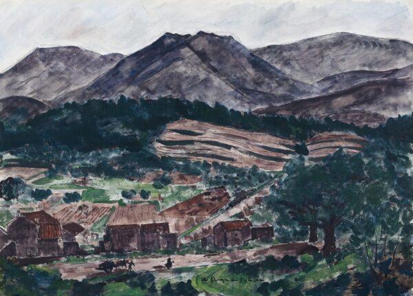 DUNOYER DE SEGONZAC Andre (1884-1974) - 'La Montagne', South of France.