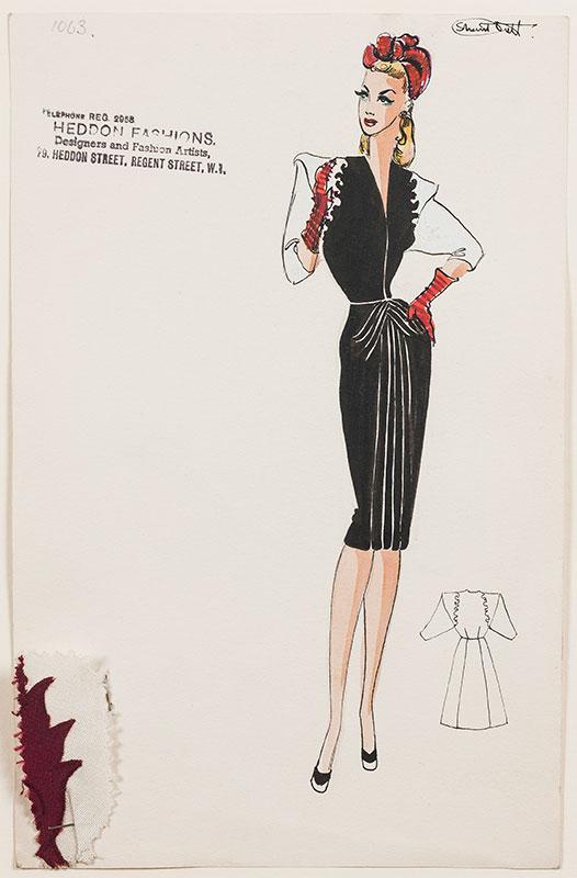 Shanti DUTT - 1940s dress designs for Heddon Fashions.