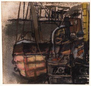 EARDLEY Joan (1921-1963) - Study of moored fishing boats.