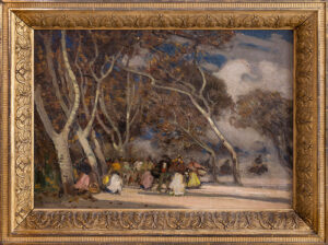 EAST Sir Alfred R.A. (1844-1913) - 'Easter Day Fiesta', Spain.