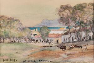 EAST Sir Alfred R.A. (1844-1913) - 'Algeciras, Spain'.