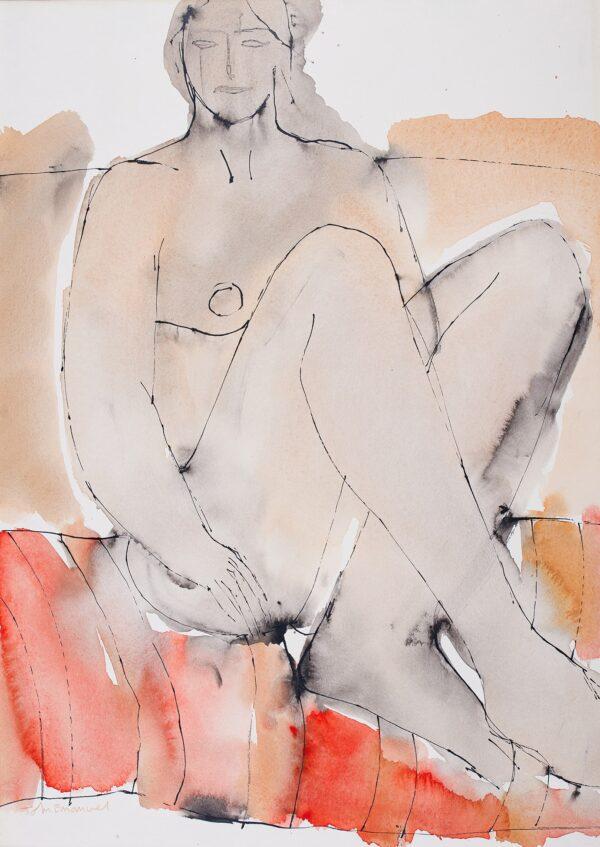 EMANUEL John (b.1930) - Seated Nude.