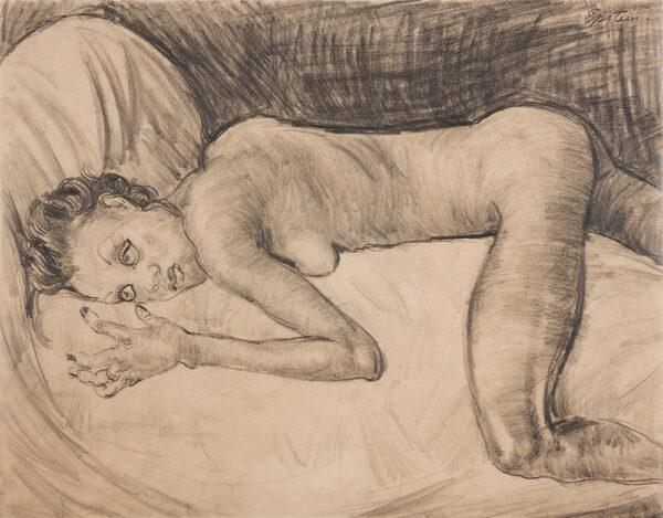 EPSTEIN Sir Jacob (1880-1959) - Reclining Nude Pencil.