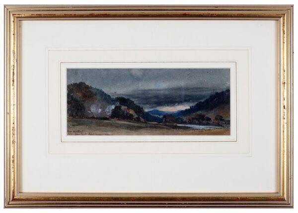 ESSEX 6th Earl of, Arthur Algernon Capell (1803-1892) - 'Near Wildbad, Charcoal burning'.
