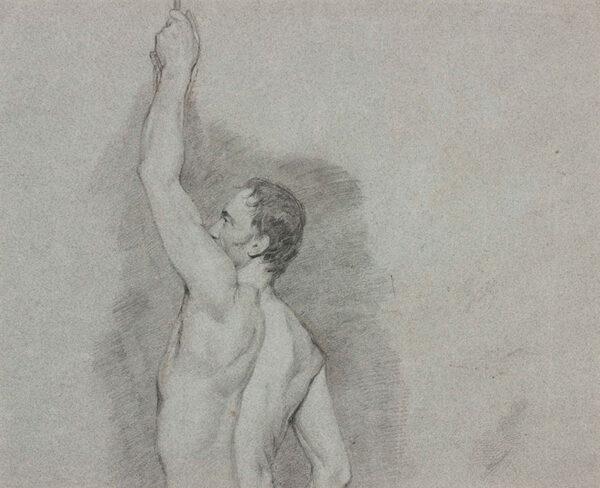 ETTY William R.A. (1787-1849) - Recto: Male life model.