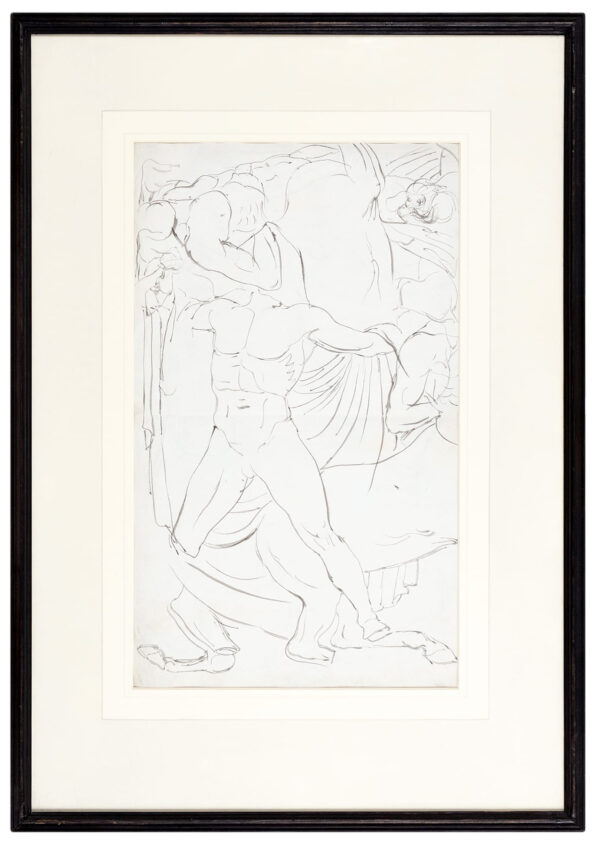 ETTY William R.A. (1787-1849) - Study from the Elgin Marbles.