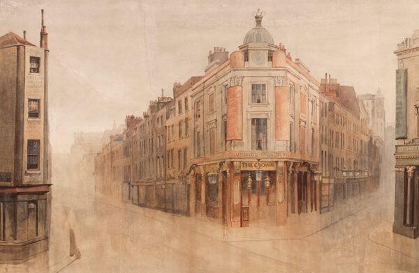 EVANS Bernard R.I (1843-1922) - London; Seven Dials.
