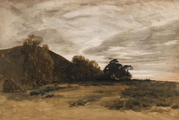 EVANS Bernard Walter RI (1848-1922) - Overcast moorland.