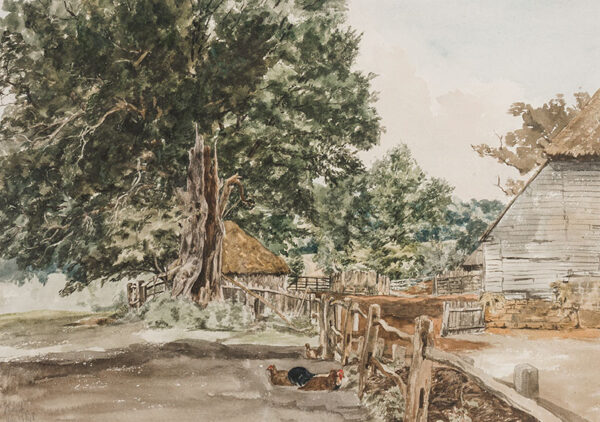 EVANS William (of Bristol) (1809-1858) - Farmyard 'nr Frant', Sussex.