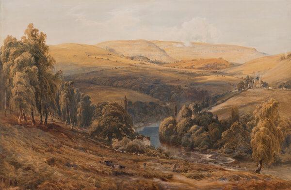EVANS Bernard R.I. (1843-1922) - 'Valley of the Dee, near Llangollen'.