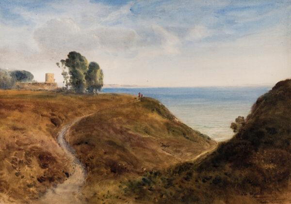 EVANS Bernard Walker R.I. (1848-1922) - Bournemouth: the Martello Tower.