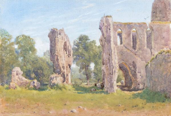 EYRE WALKER William R.W.S. (1847-1930) - Newark priory, Surrey.