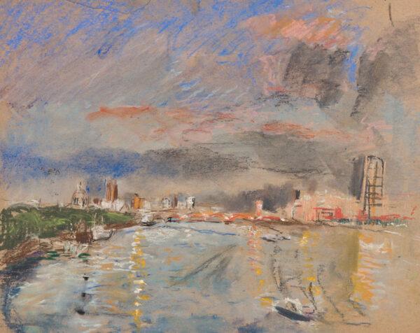 EYTON Anthony R.A. (b.1923) - 'Waterloo Bridge looking down stream'.