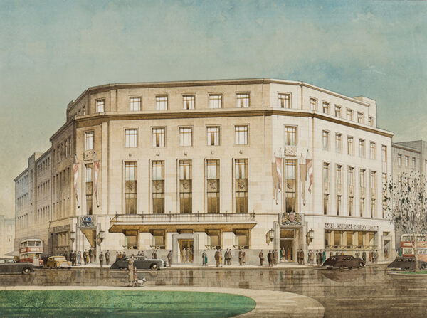 FAREY Cyril Arthur (1888-1954) to the design by Thomas Smith Tait R.I.B.A. - The Royal Insurance Company, Plymouth.
