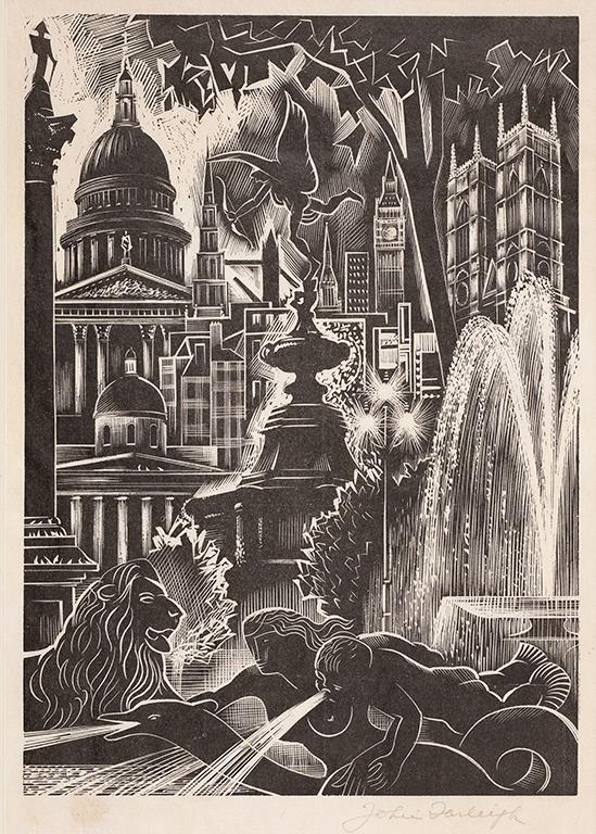 FARLEIGH John R.E. (1900-1965) - Capriccio of London.