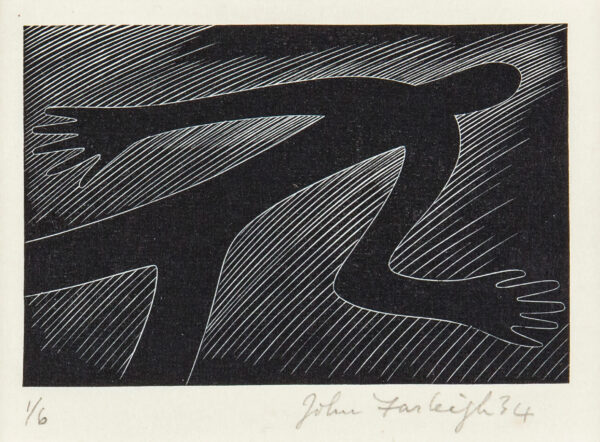 FARLEIGH John R.E. (1900-1965) - 'Our days on Earth are as a shadow, and there is none abiding…' Wood engraving.