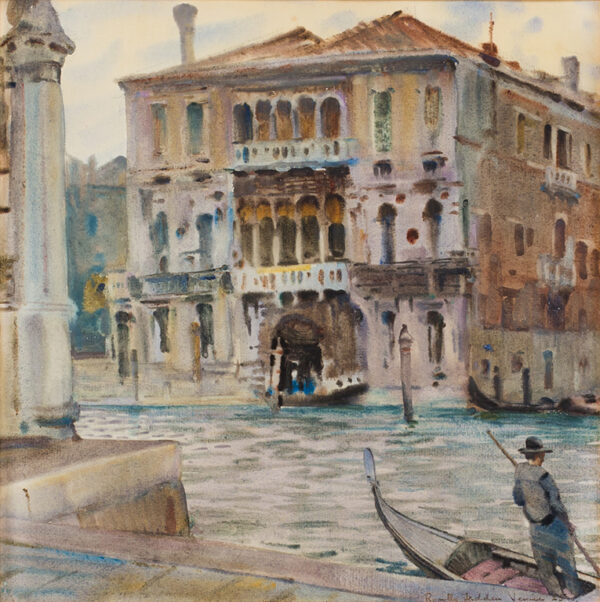 FEDDEN Romilly (1875-1939) - 'A Palace on the Grand Canal', Venice.
