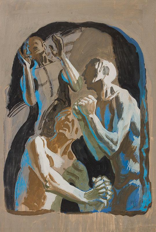 FEIBUSCH Hans (1898-1998) - Beseaching figures.