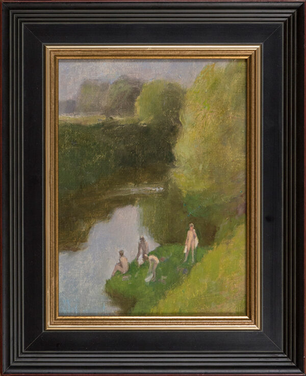 FEILD Maurice (1905-1988) - 'Evening bathe on the Teme', near Malvern.