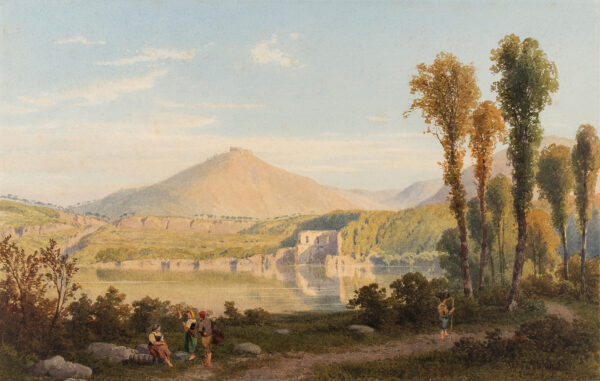 FERGUSON William J. (fl.1849-1886) - An Italian lake.