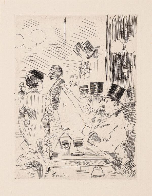 FORAIN Jean-Louis (1852-1931) - Au Café.