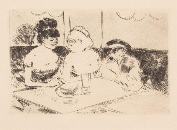FORAIN Jean-Louis (1852-1931) - 'Maison Close' (G.