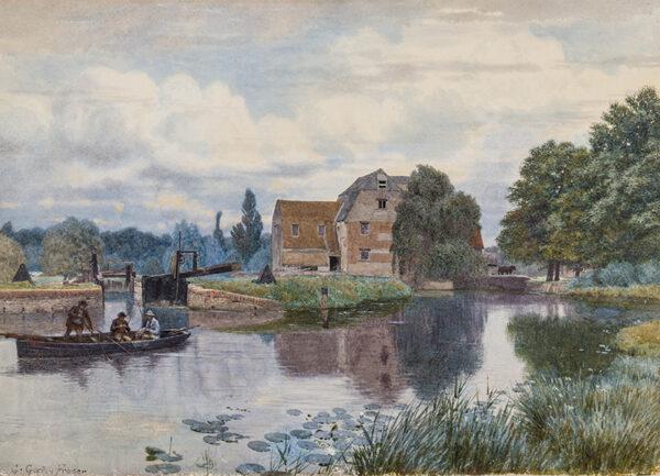 FRASER George Gordon (1859-1895) - 'Hemingford Mill / 0n the Ouse / Huntingdonshire'.