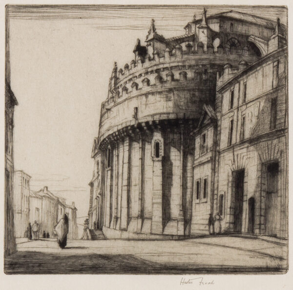 FROOD Hester (1882-1971) - Six etchings (Italy, France Spain and England).