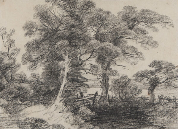 FROST George (1754-1821) - A shaded Suffolk pond.