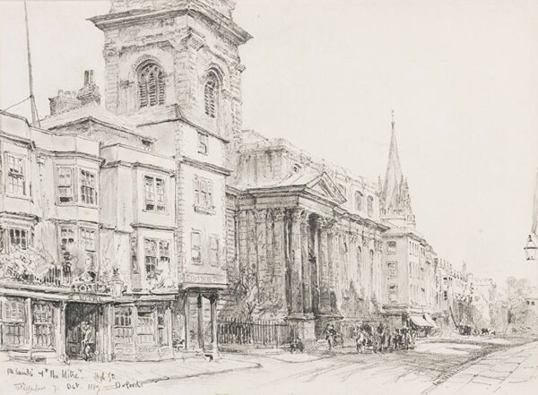 FULLEYLOVE John (1845-1908) - Oxford: 'All Saints and The Mitre, High Street'.