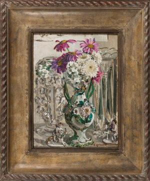GABAIN Ethel (1883-1950) - 'Pink Pyrethrums'.