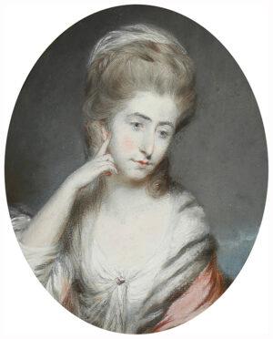 GARDNER Daniel (1750-1805) - Lorenzo Moore (1744-1798) as Captain 3rd Regiment of Horse, and his wife Williamza Moore (née Janssen) (1753-1840).