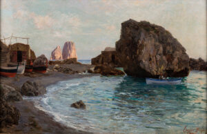 GARGIULO Enrico (1881-1948) - 'Capri' – the Faraglioni from Marina Piccola.