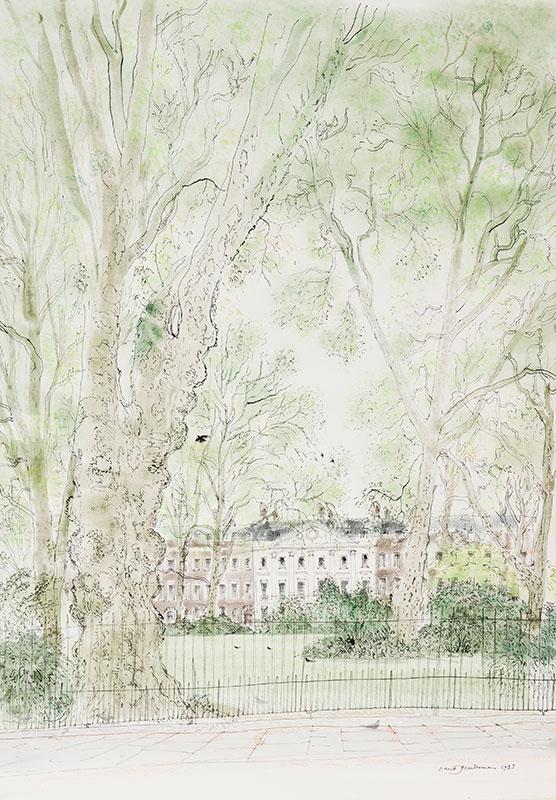 GENTLEMAN David (b.1930) - London: 'Bloomsbury Square'.