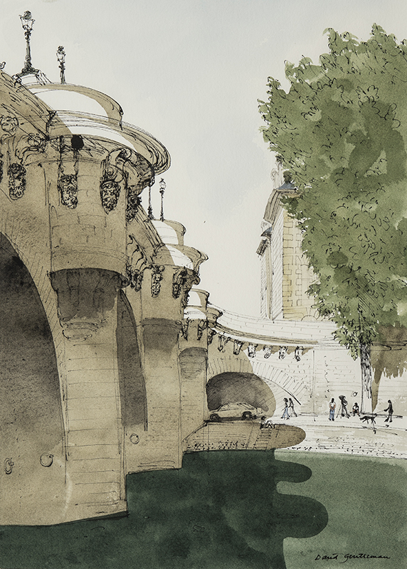 GENTLEMAN David (b.1930) - 'The Pont Neuf and the Quai des Orfevres'.