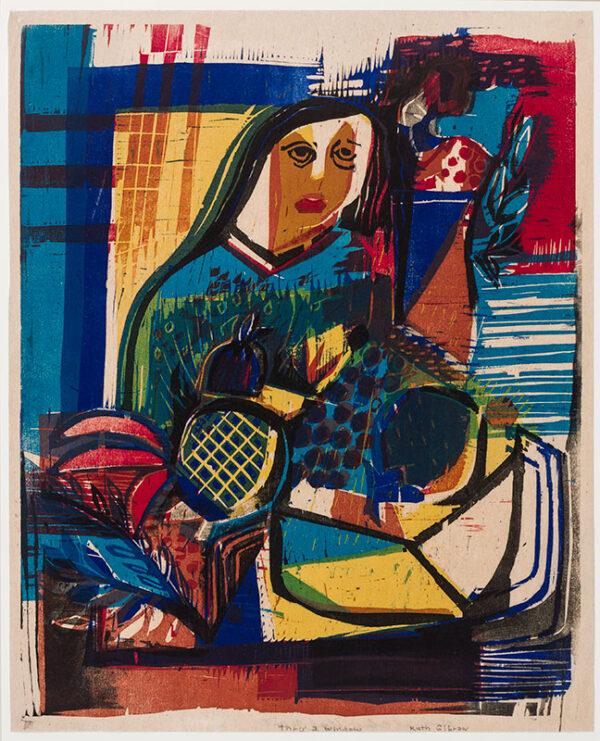 GILBROW Ruth (fl.1950s) - 'Thru' a window'.