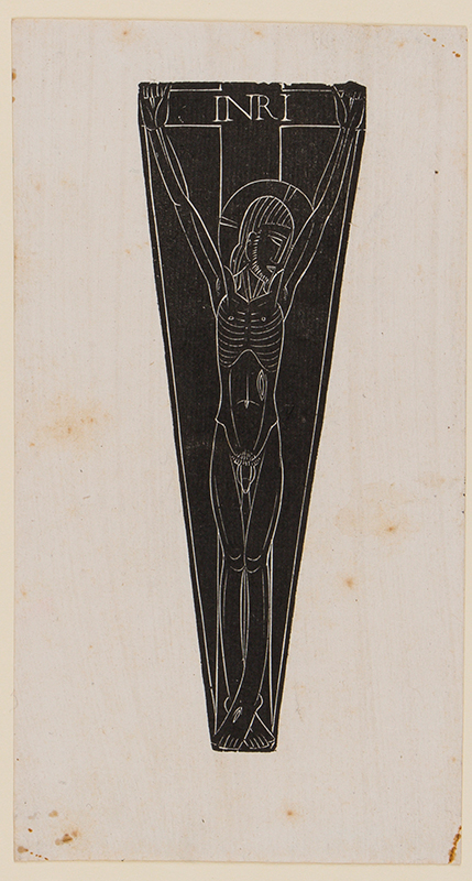 GILL Eric (1882-1940) - 'Nude Crucifix', design for a carving.