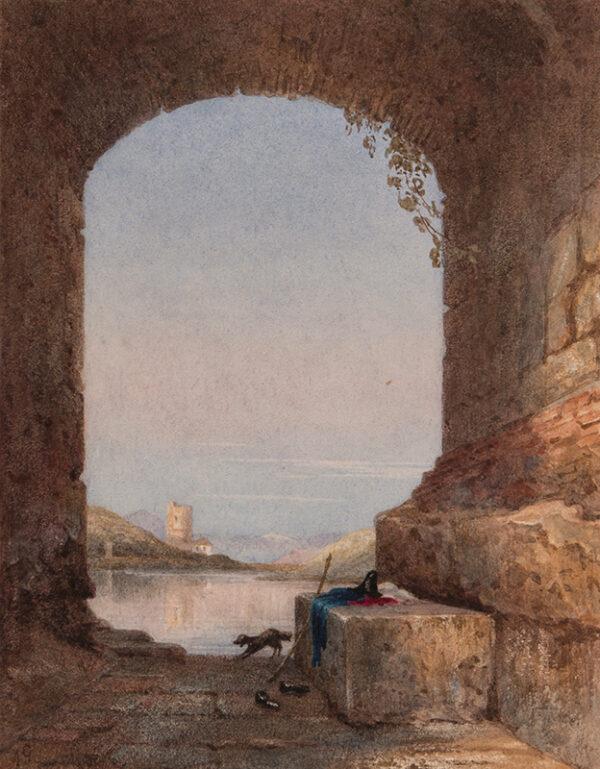 GLENNIE Arthur R.W.S. (1803-1890) - A Neapolitan capriccio.