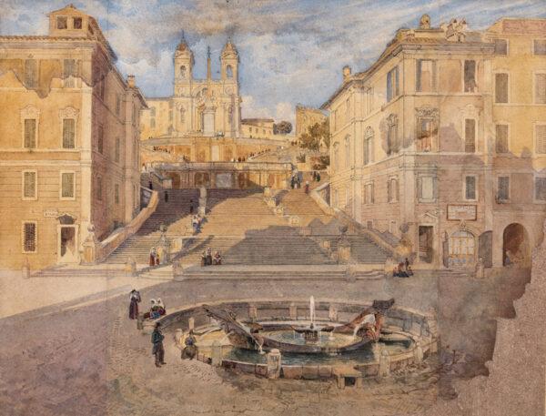 GLENNIE Arthur R.W.S. (1803-1890) - Rome.
