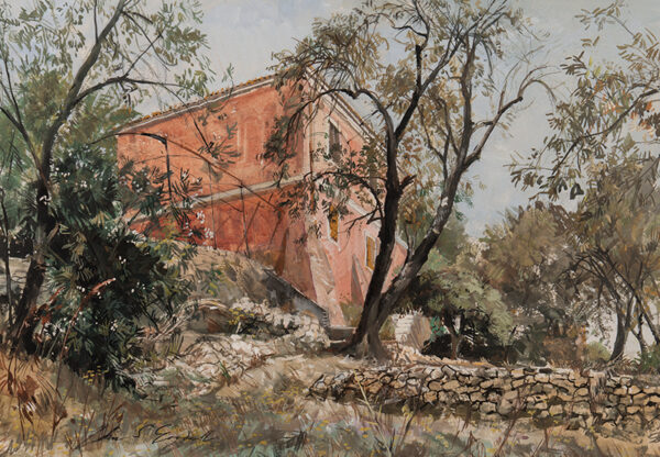GOODALL John Strickland R.B.A. R.I. (1908-1996) - Corfu, reputedly the house of Giles Eyre with whom the artist had served in India in the 1940s.