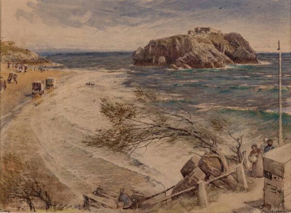 GOODWIN Albert R.W.S. (1845-1932) - 'Tenby'.