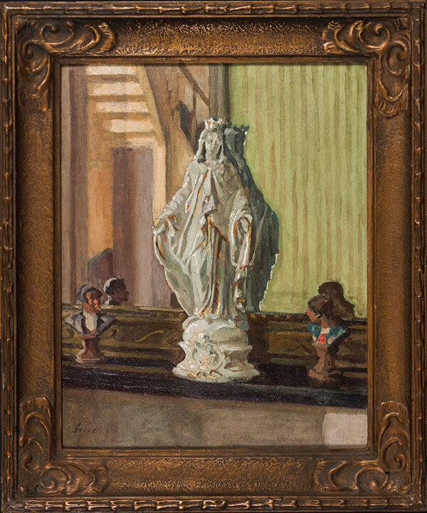 GOSSE Sylvia (1881-1968) - 'Notre Dame de a rue de Bailly, Envermeu, Dieppe'.