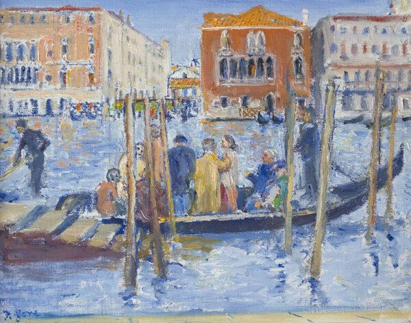 GORE Frederick R.A. C.B.E (1913-2009) - Venice: traghetto at the fish market.