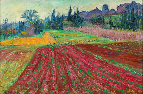 GORE Frederick R.A. C.B.E. (1913-2009) - 'Landscape near Mausanne, Bouche du Rhone'.