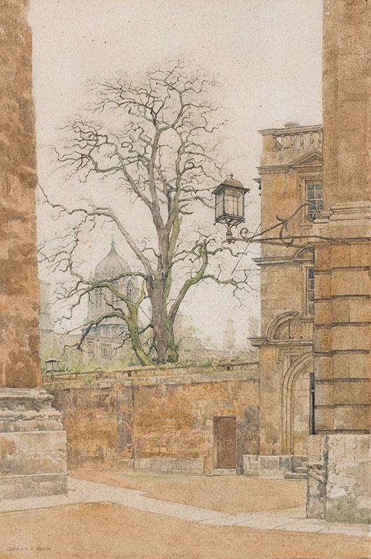 GOTCH Bernard (1876-1963) - Oxford: Christchurch through winter trees.