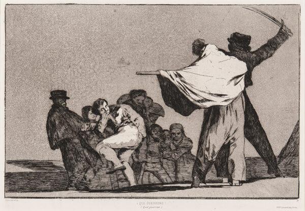 GOYA Y LUCIENTES Francisco (1746-1828) - 'Que Guerrero!' ('Disparate conocido').